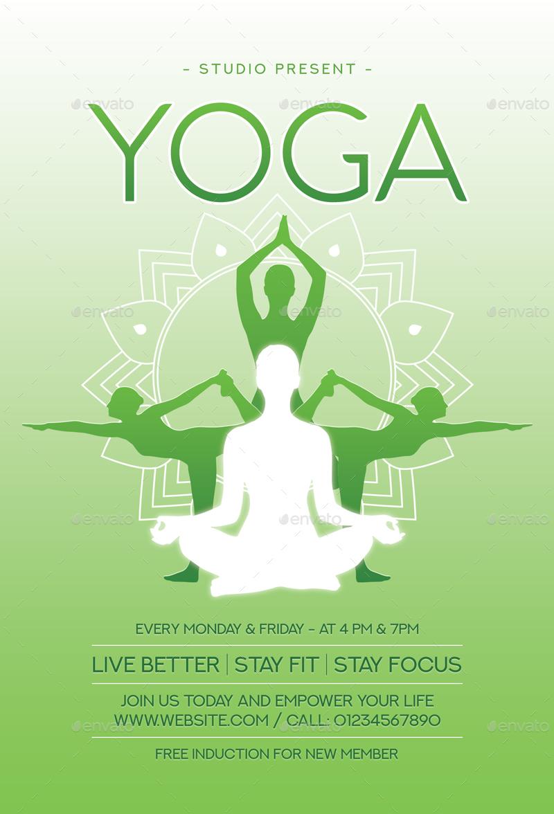 Yoga Flyer by sunilpatilin | GraphicRiver