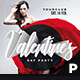 Valentine's Day Party Flyer & Poster - GraphicRiver Item for Sale