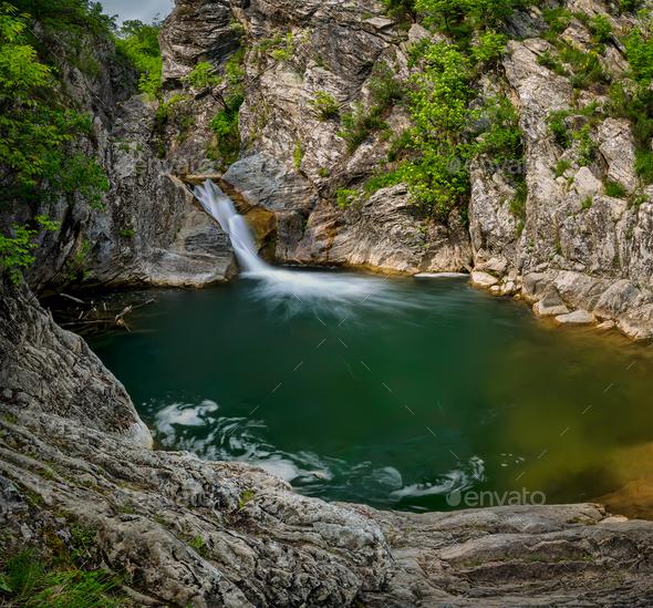 Emerald lake - Stock Photo - Images