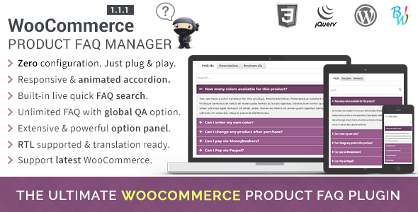WooCommerce Product FAQ Manager - CodeCanyon Item for Sale