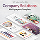 Company Solutions Powerpoint Template