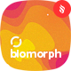 Flat Biomorph with Abstract Shapes Backgrounds