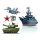 Set of Cartoon Military Equipment - GraphicRiver Item for Sale