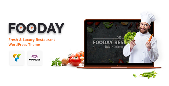 Image of Fooday - Fresh & Luxury Restaurant, Coffee WordPress Theme