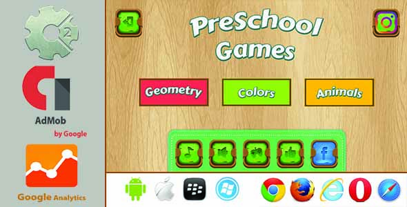 PreSchool Games - Construct2 HTML5 With Admob - CodeCanyon Item for Sale