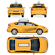 Taxi Car Vector Template