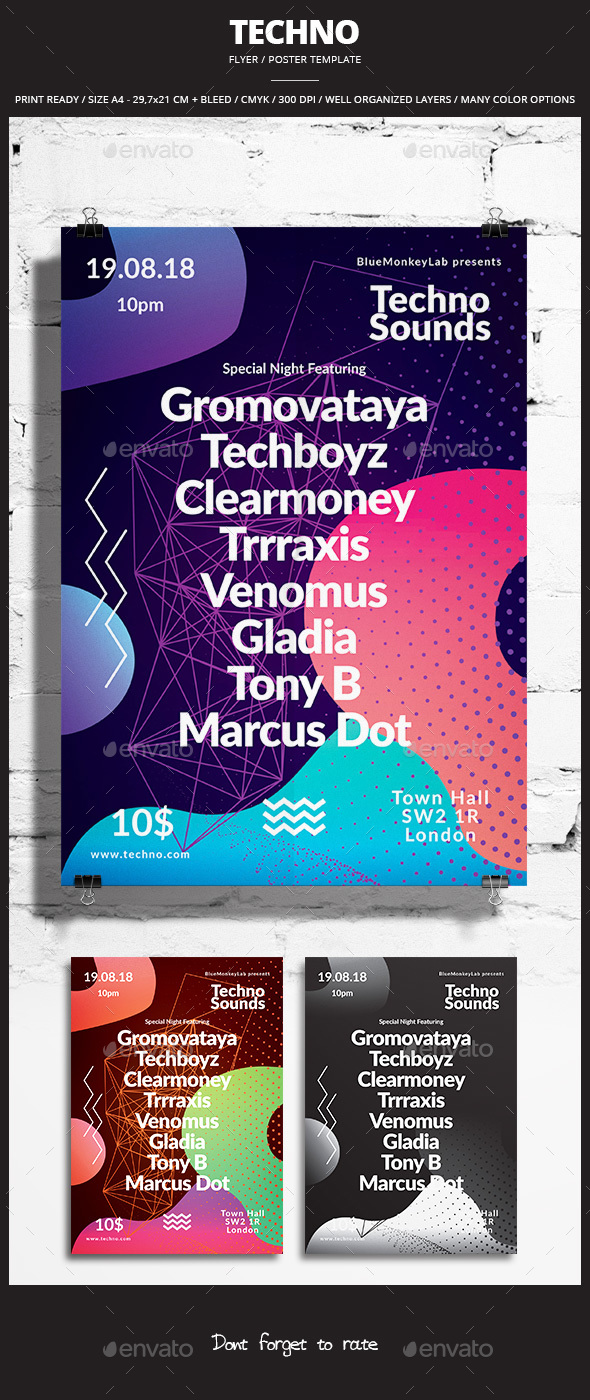 Techno Flyer / Poster 2 - Events Flyers