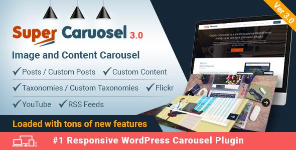 Super Carousel - Responsive Wordpress Plugin