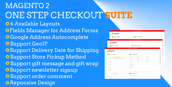Magento 2 One Step Checkout Suite