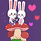 Cartoon Bunny Love for Valentine's Day - VideoHive Item for Sale