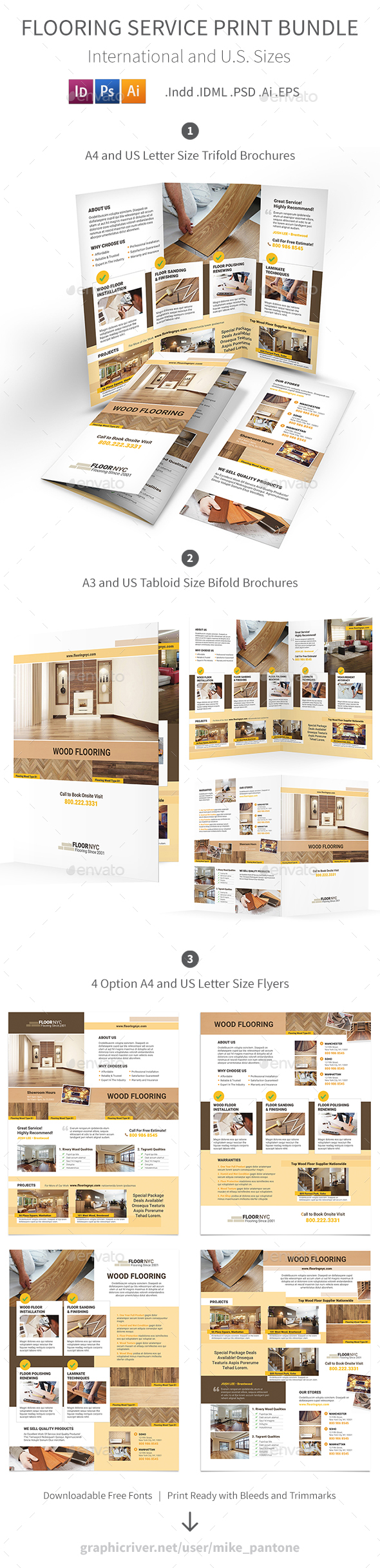 Flooring Service Print Bundle - Informational Brochures