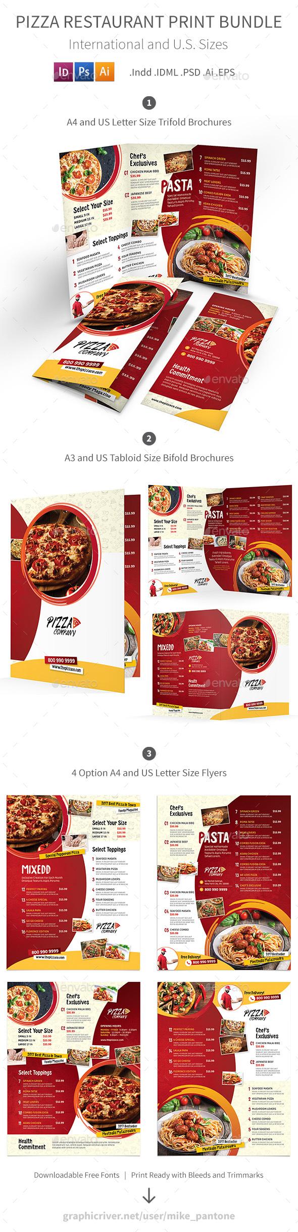 Pizza Restaurant Print Bundle 2