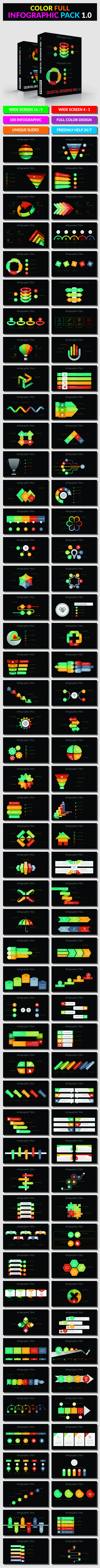 Color Full Infographic Pack 1.0 - PowerPoint Templates Presentation Templates