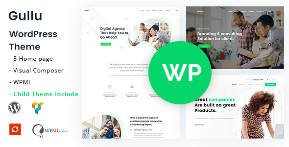 Gullu - Creative Digital Agency & Multipurpose WordPress Theme - Business Corporate