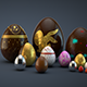 Easter Eggs Pack 001 3d Realistic - GraphicRiver Item for Sale