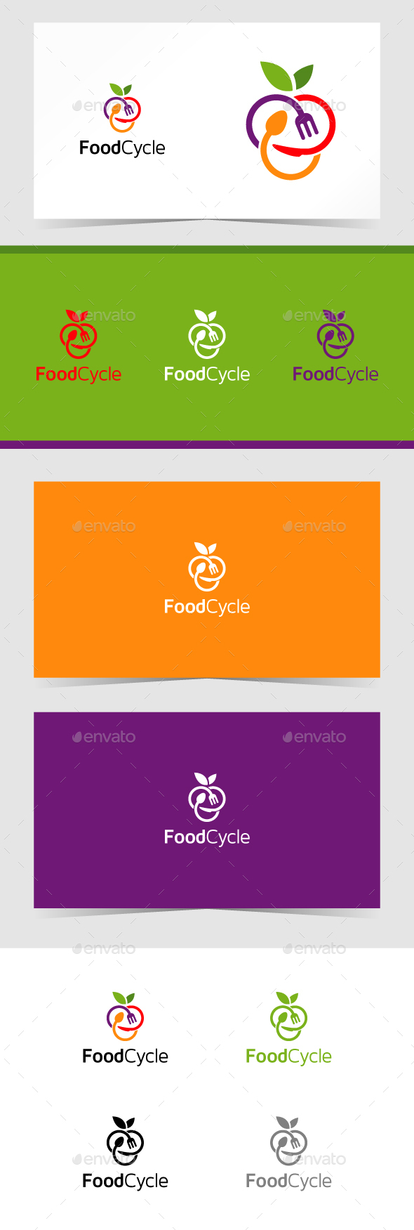Food Cycle Logo Template - Food Logo Templates