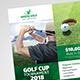 Golf Tournament Poster & Billboard Bundle