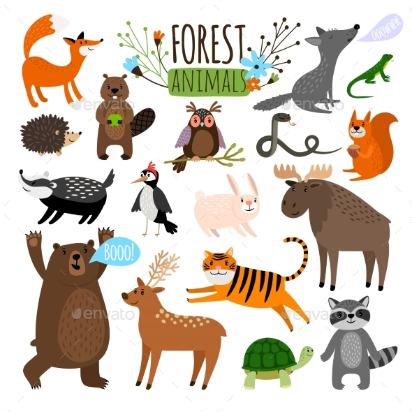 Forest Animals Set - Animals Characters