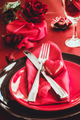 Valentines table setting - PhotoDune Item for Sale