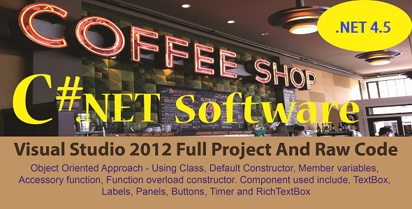 CodeCanyon Cafe Shop Billing System C# NET Full Project And Raw Code 21174695