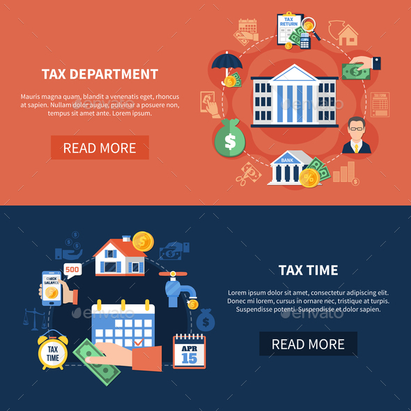 Tax Department Horizontal Banners - Concepts Business