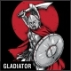 Gladiator T-Shirt Design - GraphicRiver Item for Sale