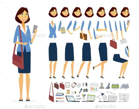 Businesswoman - Vector Cartoon Character - People Characters