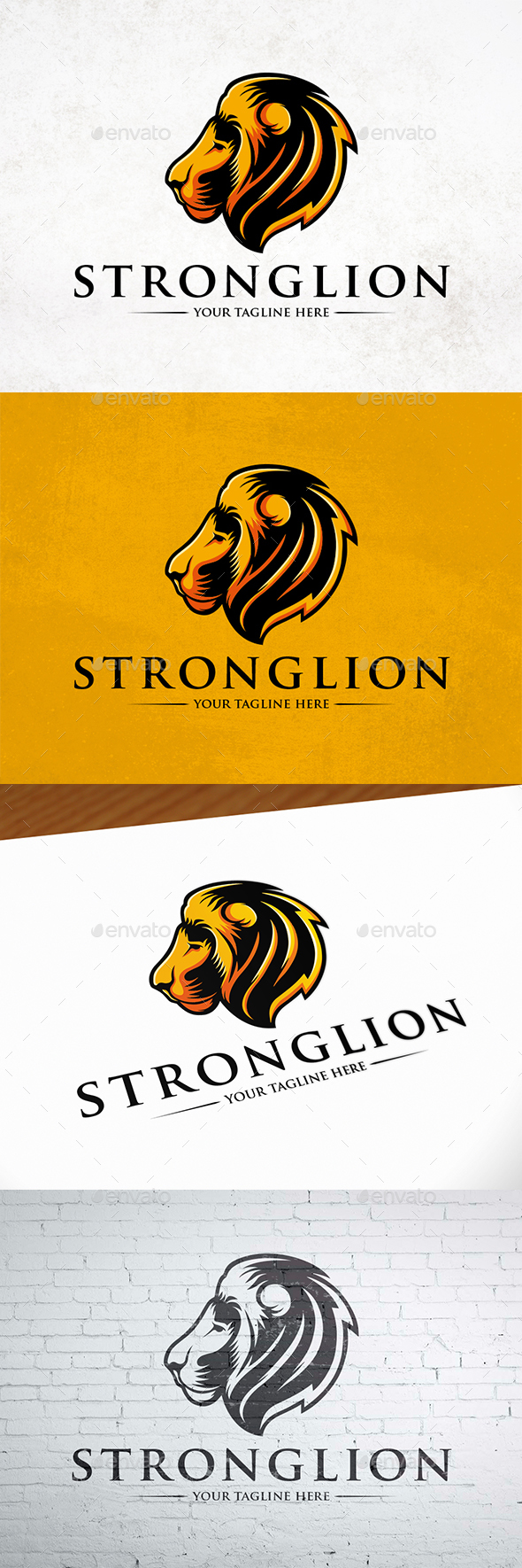 Strong Lion Logo Design - Animals Logo Templates