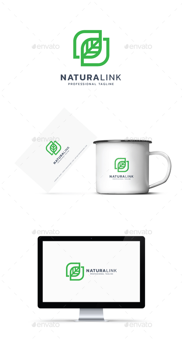 Natura Link Logo - Abstract Logo Templates