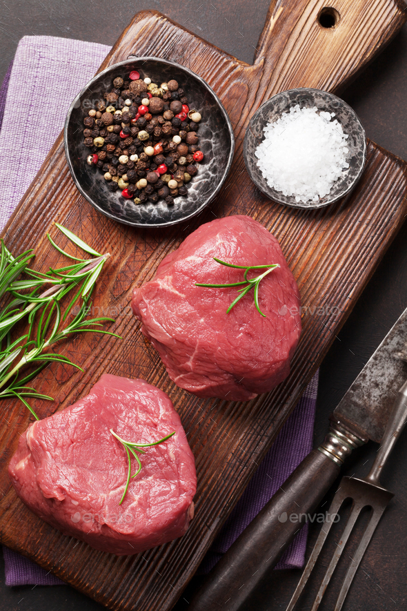 Raw fillet steak - Stock Photo - Images