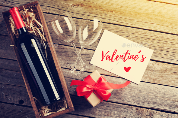 Valentines day greeting card - Stock Photo - Images