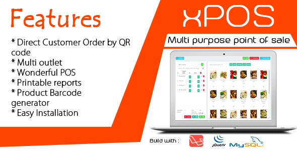 xPOS - Multi purpose Point of Sale in PHP Best Scripts
