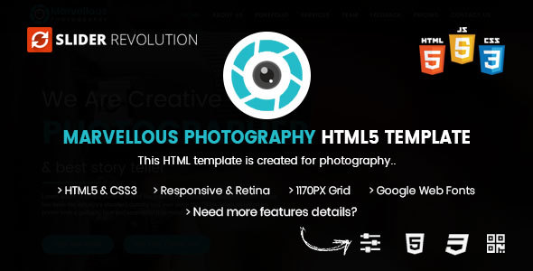 Image of Photography HTML | Marvellous Photography Bootstrap 4