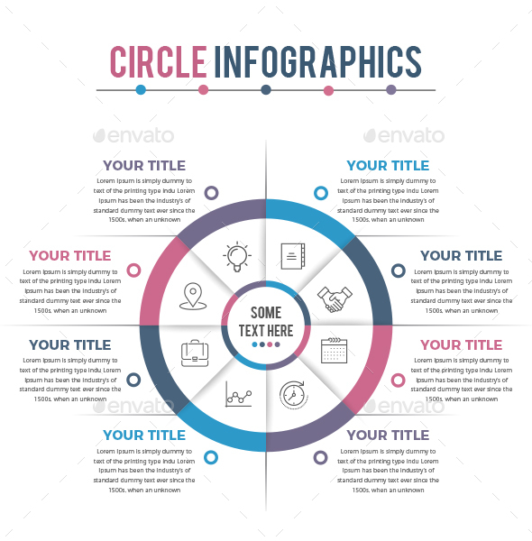 Business Circle Infographics - Infographics