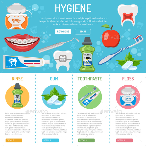 Dental Hygiene Banner and Infographics - Health/Medicine Conceptual