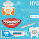 Dental Hygiene Banner and Infographics