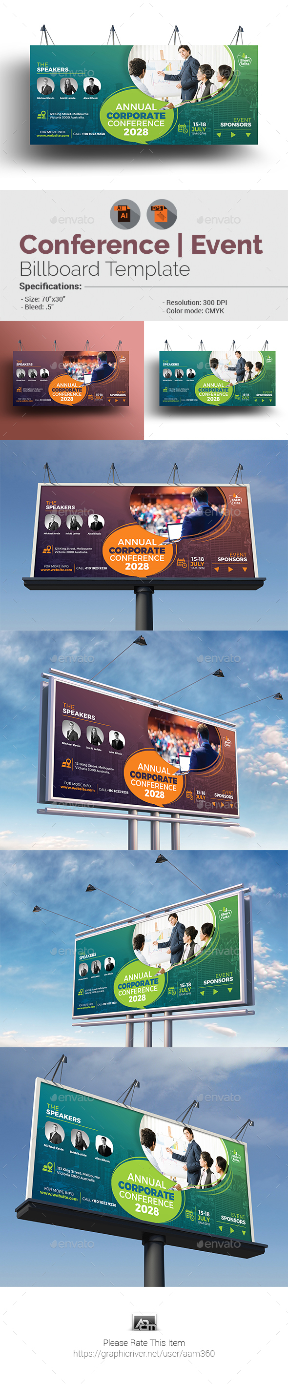 Annual Event/Conference Billboard Template
