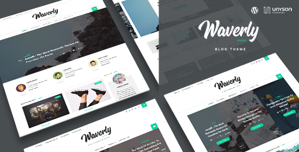 Waverly - Modern WordPress Blog Theme - Blog / Magazine WordPress