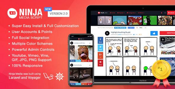 Ninja Media Script - Viral Fun Media Sharing Site - CodeCanyon Item for Sale