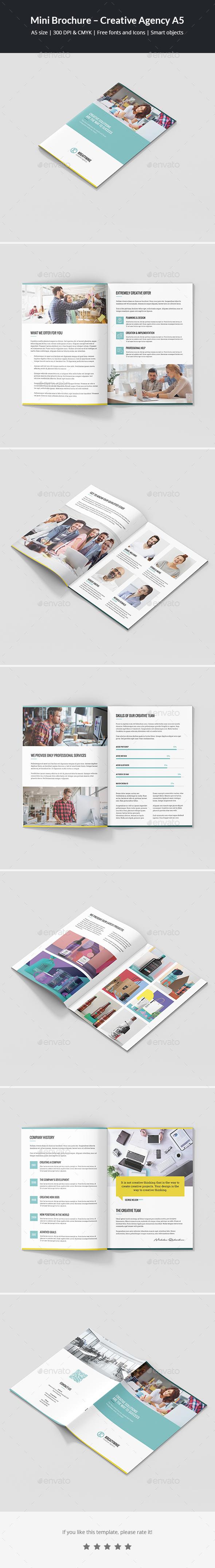 Mini Brochure – Creative Agency A5 - Corporate Brochures