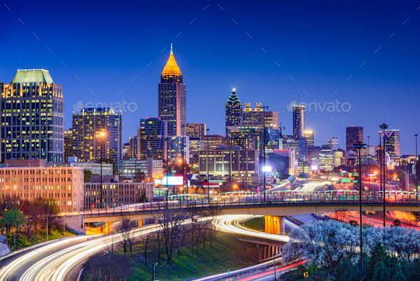 Atlanta Georgia Skyline - Stock Photo - Images