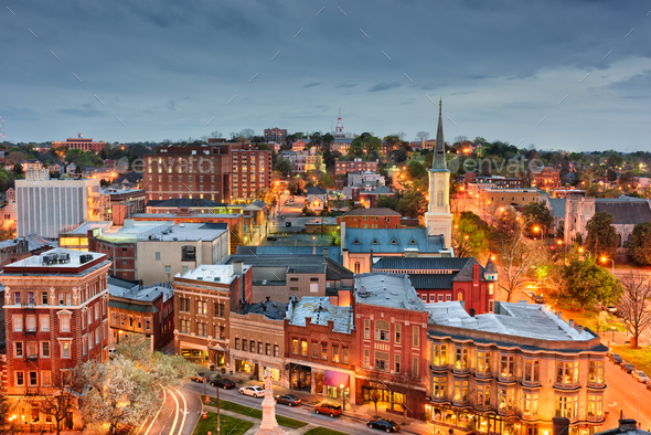 Macon Georgia Skyline - Stock Photo - Images