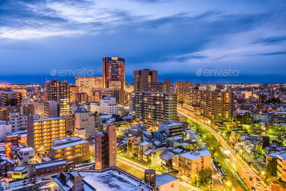 Kanazawa Japan Skyline - Stock Photo - Images