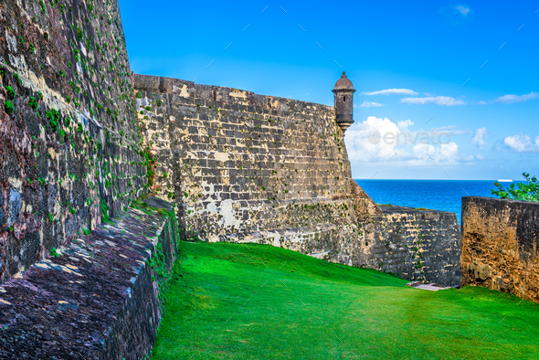 San Juan Puerto Rico Fort - Stock Photo - Images