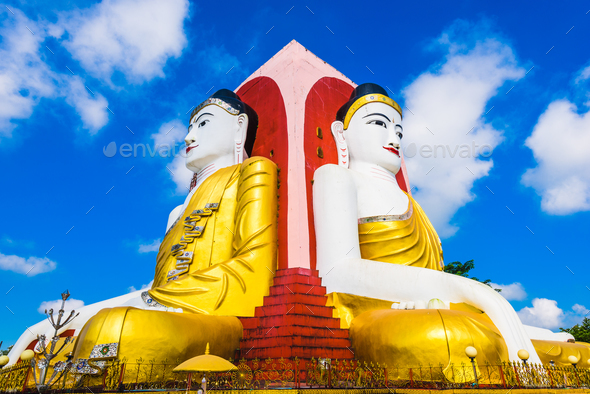 Four Buddhas Statue - Stock Photo - Images