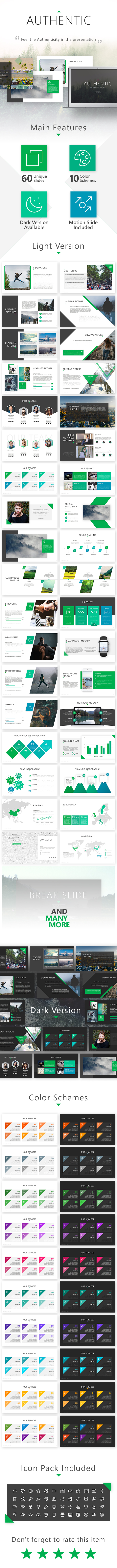 Authentic Presentation Template - Business PowerPoint Templates