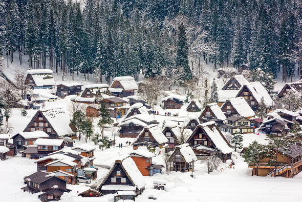 Shirakawago Japanese Village - Stock Photo - Images