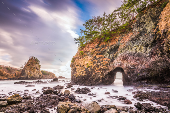 Ganmon Rock Japan - Stock Photo - Images