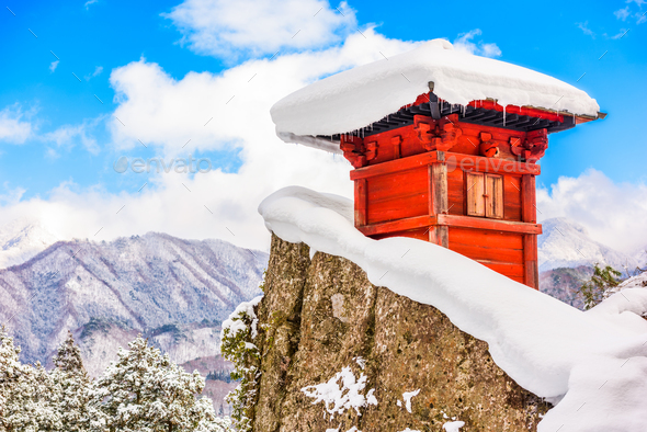Mountain Temple Japan - Stock Photo - Images