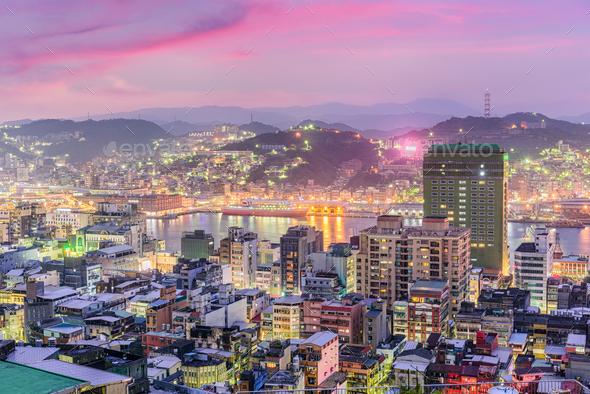 Keelung, Taiwan Skyline - Stock Photo - Images